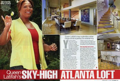 In Touch (February 14, 2011) profiles Queen Latifah's