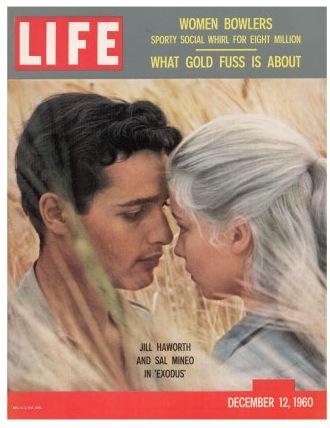 Gjon-mili-sal-mineo-and-jill-haworth-in-scene-from-film-exodus-december-12-1960
