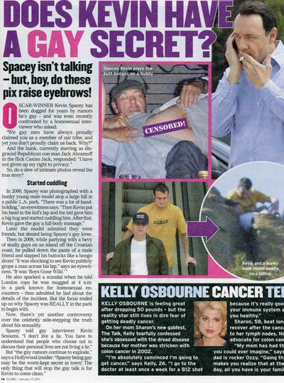... rumors of the past dozen years that Kevin Spacey might have a gay secret ...
