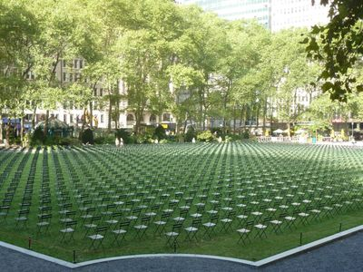 Bryant park 9-11 tribute this weekend