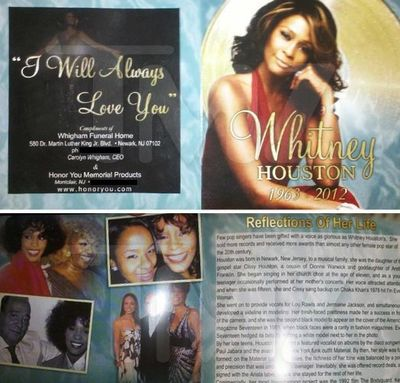 Whitney-funeral-program