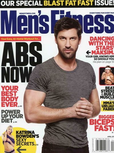 Maksim Chmerkovskiy Mens Fitness biceps Dancing with the Stars 2