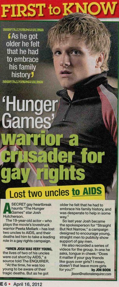 Josh Hutcherson gay AIDS