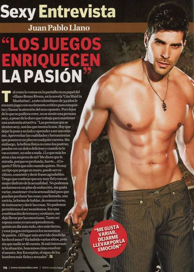 Juan Pablo Llano TV y Novelas shirtless