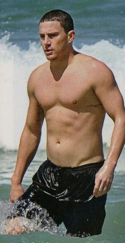Channing Tatum shirtless swimsuit