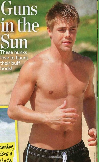 Derek Hough shirtless Dancing with the Stars
