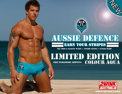 2WINK AUSTRALIA AQUA AUS12 SWIM TRUNKS