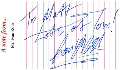 Night of the Comet Ivan E Roth autograph