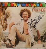 Johnny Whitaker autographed record Friends
