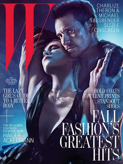 Michael Fassbender Charlize Theron W Magazine August 2012