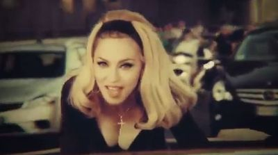 Madonna-Turn-Up-The-Radio-cleavage