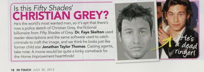 50 Shades of Grey Christian Grey Jonathan Taylor Thomas James Deen