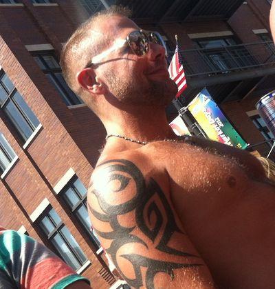 Shirtless daddy