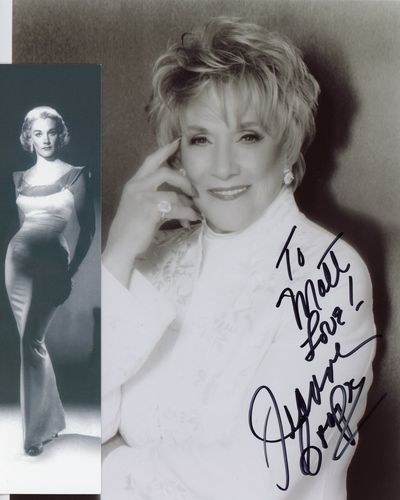 Jeanne Cooper autograph and bookmark