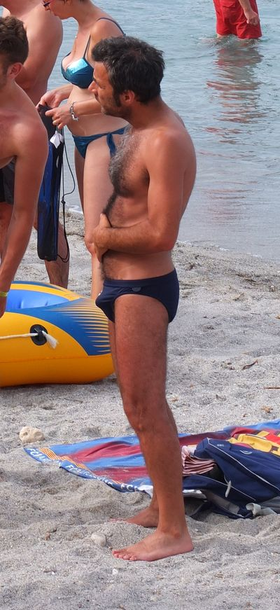 Hairy Speedo bulge