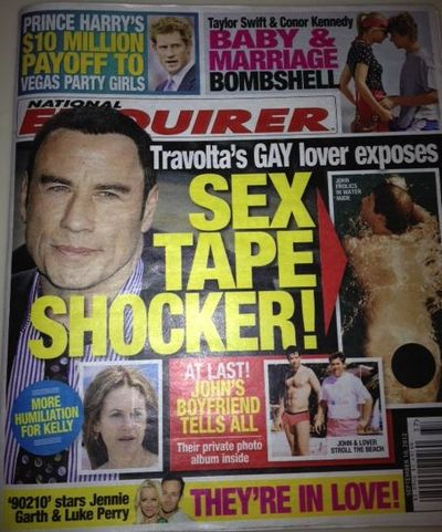 John Travolta gay National Enquirer