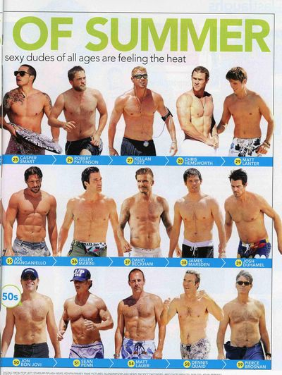 Shirtless matt lauer joe manganiello lanter casper smart david beckham gilles marini