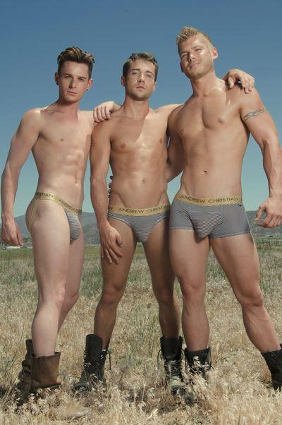 Hot shirtless Andrew Christian guys