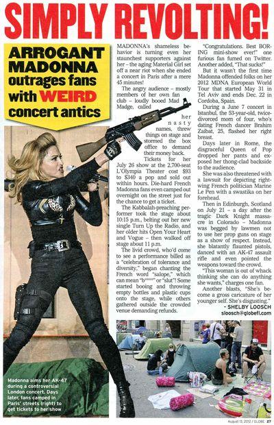 Madonna MDNA Tour guns