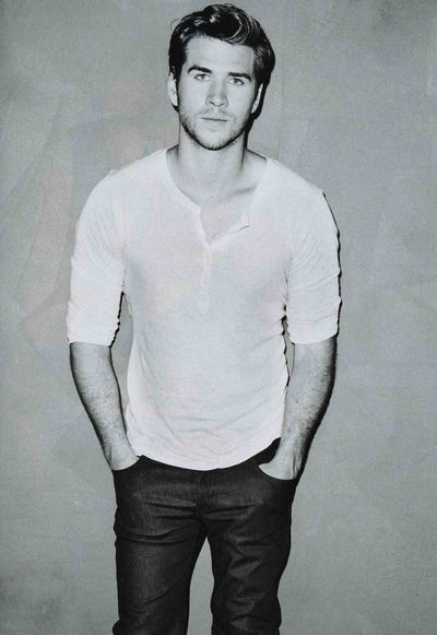 Black and white Liam Hemsworth