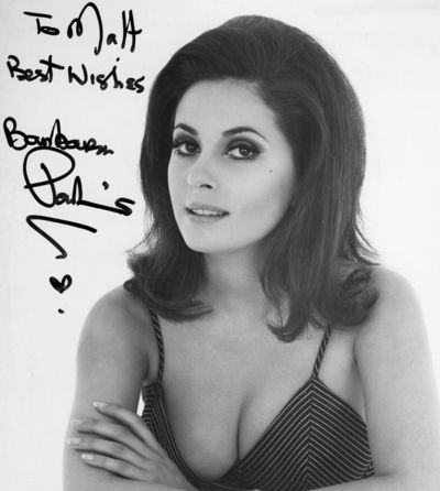 Barbara Parkins cleavage autograph
