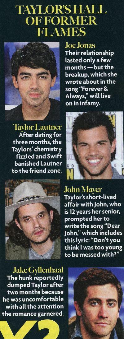 Taylor Swift boyfriends Jake Gyllenhaal