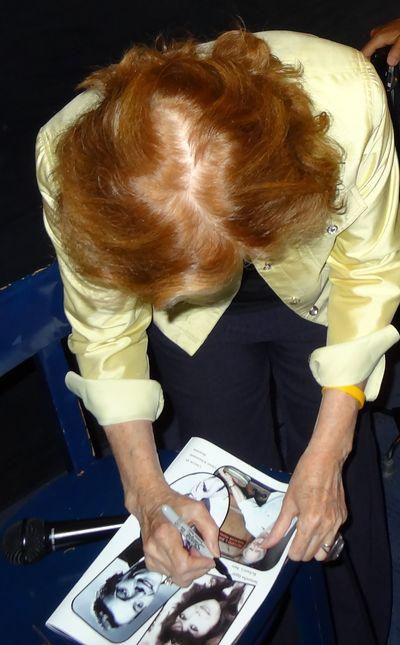 Samantha Eggar signing