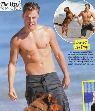 Derek Hough shirtless