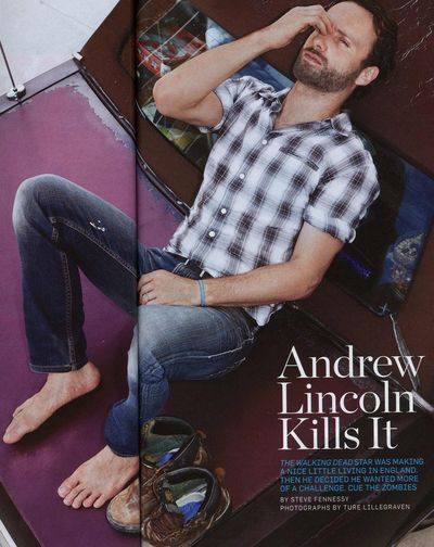 Andrew Lincoln feet Mens Health