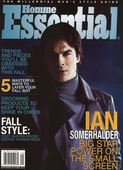 Ian Somerhalder cover of Essential Homme
