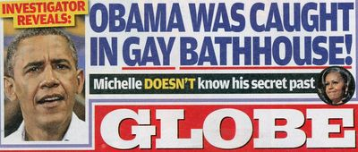 Barack Obama gay GLobe rumors Kevin DuJan