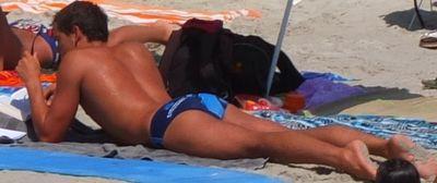 Hot ass on beach