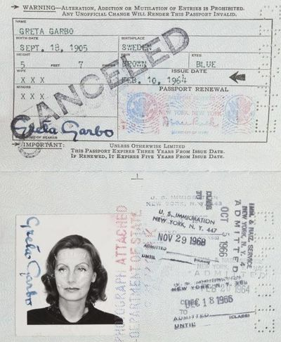 Greta Garbo auction lot104889