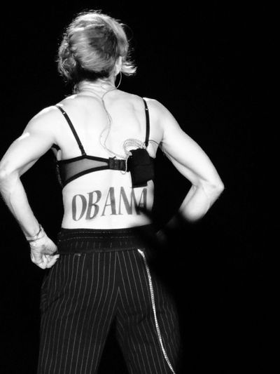 Madonna endorses President Barack Obama at MDNA Yankee Stadium