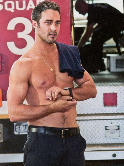 Taylor Kinney TV Guide shirtless