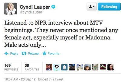 Cyndi Lauper Madonna MTV NPR