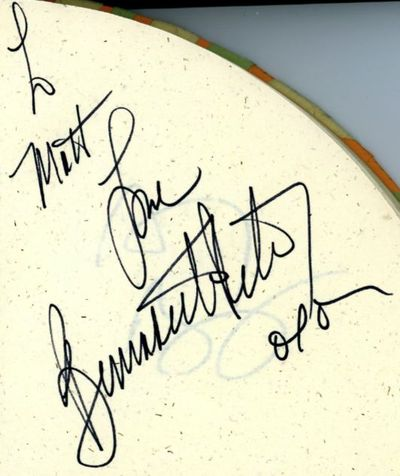 Bernadette Peters autograph